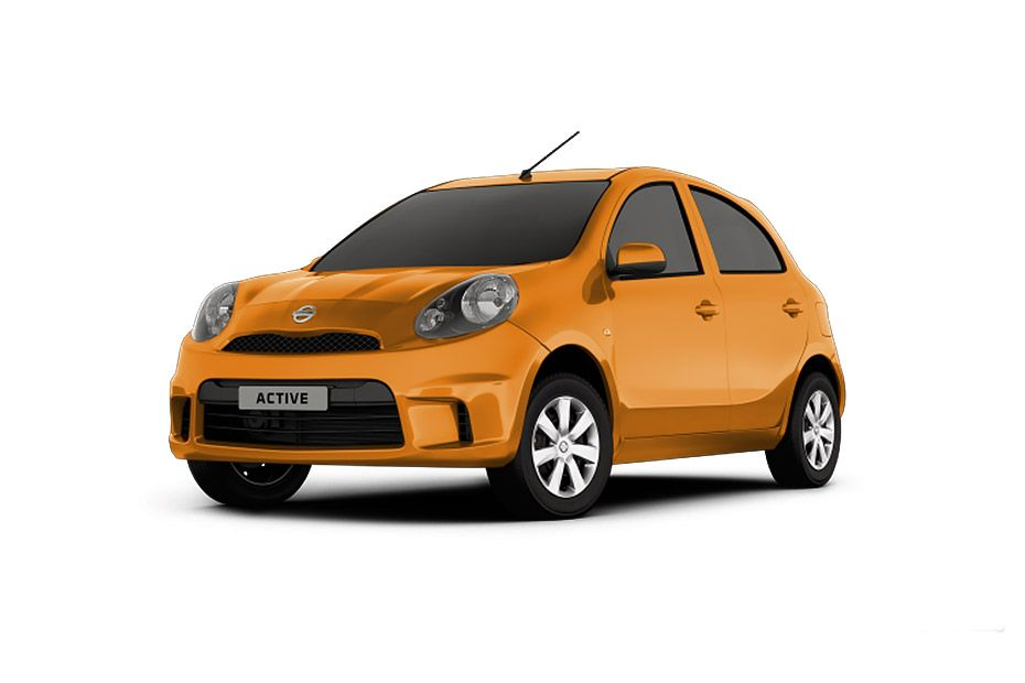 Nissan Micra ActiveSunshine Orange Color