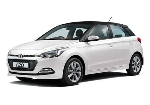 Hyundai Elite i20Polar White with Phantom Black Color