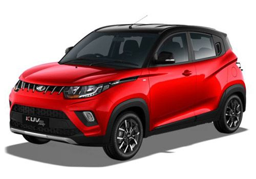 Mahindra KUV100Black and Red Color