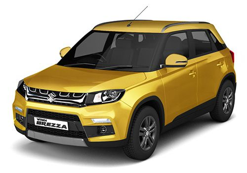 Maruti Vitara BrezzaFiery Yellow Color