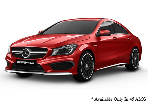 Mercedes-Benz CLADesigno Patagonia Red Metallic Color
