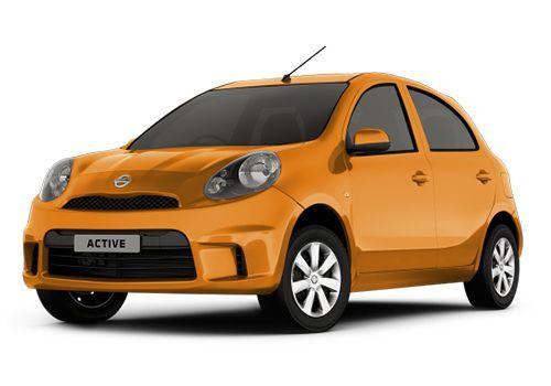Nissan Micra ActiveSunshine Orange Color