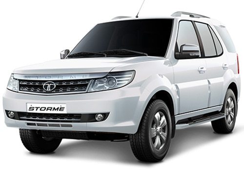 Tata Safari StormeArctic White Color