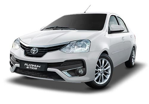 Toyota Platinum EtiosWhite Color