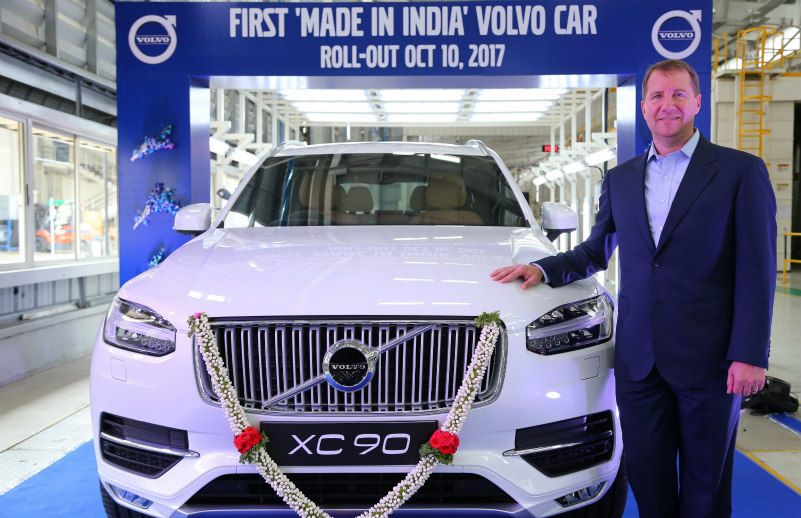Volvo cars : First Made In India Volvo Car Rolls Out Of Factory