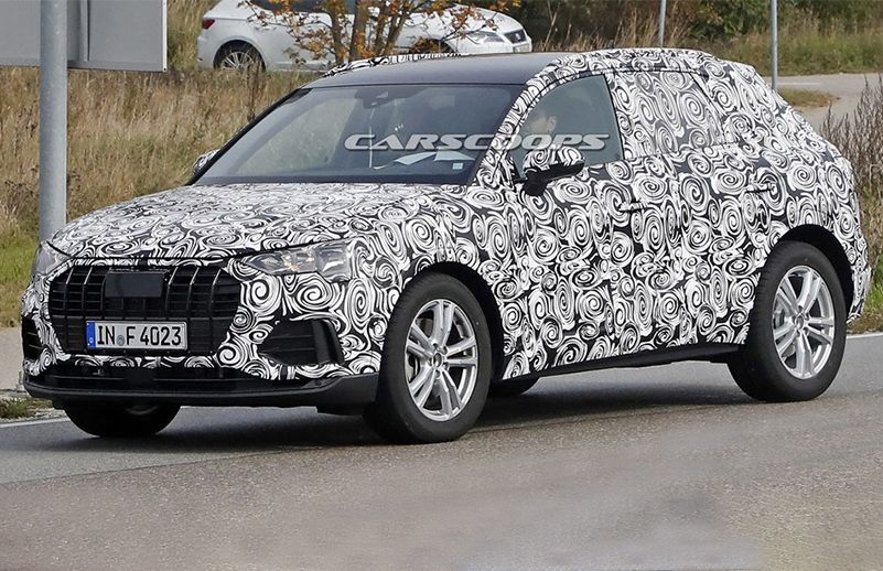 AllNew Audi Q Spied For The First Time CarDekhocom - Audi car pics